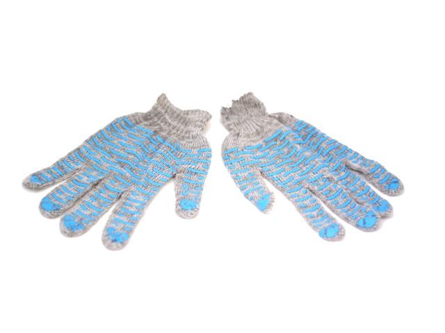 Перчатки тканевые с ПВХ серые
