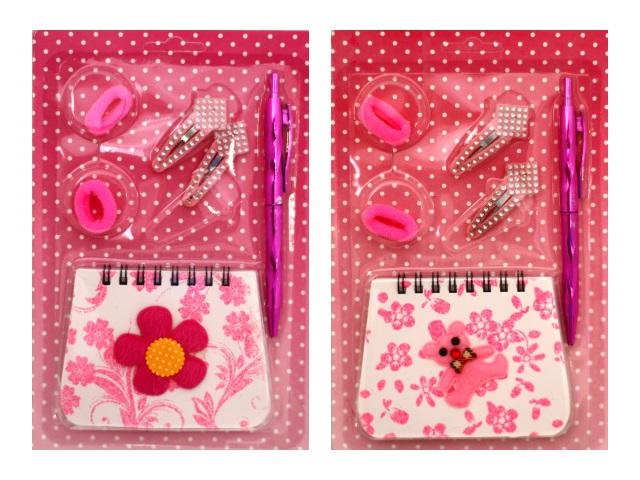 Набор подарочный для девочек с блокнотом и заколками Mazari М-3609