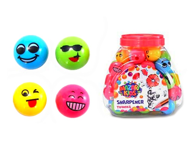 Точилка с контейнером Mazari Smile цветная М-6674