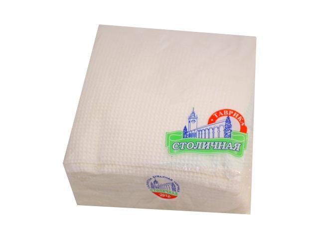 Салфетки бумажные  однослойные  50 шт. белые Столичная