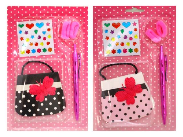 Набор подарочный для девочек с блокнотом и наклейками Mazari М-3611