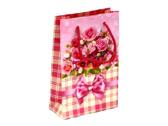 Пакет подарочный бумажный 17.5*11.5см Цветы 11-01-1212