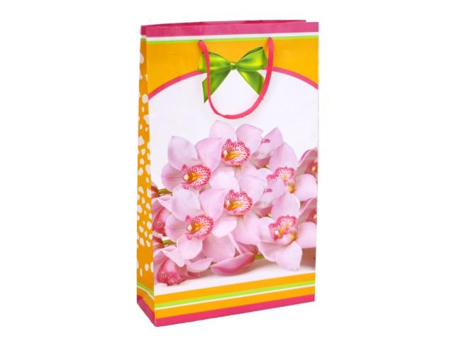 Пакет подарочный бумажный 40.5*24.8см Орхидеи 11-03-1259