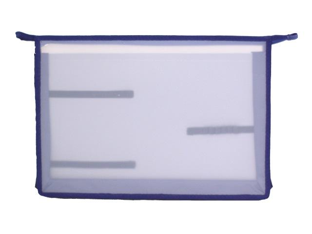 Папка для труда А4 пластик на молнии 2 отделения Стримлайн 400650