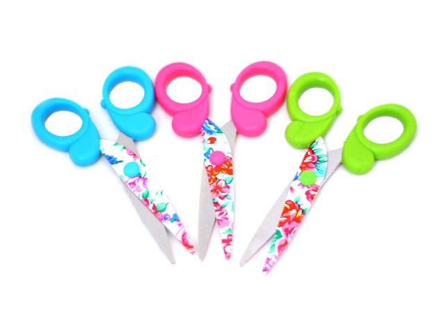 Ножницы детские 13 см пластиковые ручки цветные TZ 6926