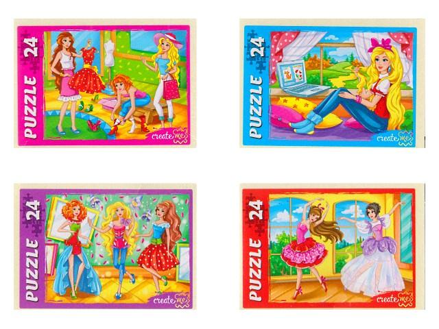 Пазлы   24 детали Модные девочки П24-9918