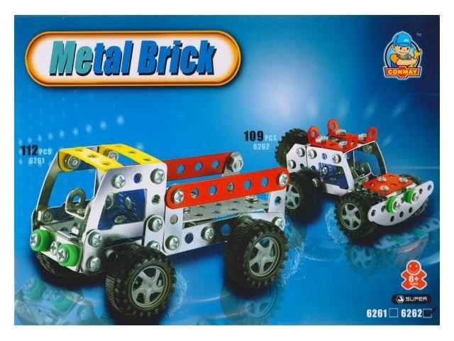 Конструктор металл 109 деталей Супер Джип 100884548