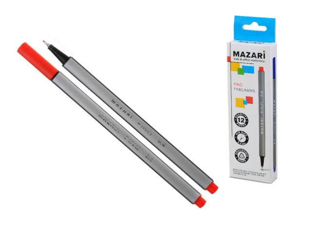 Линер 0.4 мм Fino красный трехгранный М-5300-72