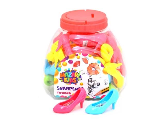 Точилка пластик Mazari Туфелька цветная M-6676