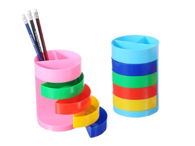 Подставка для ручек  7 отделений Rainbow цветная Mazari М-9300