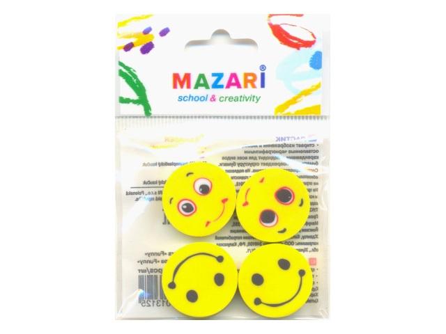 Ластики 4 шт. Mazari Funny М-6776