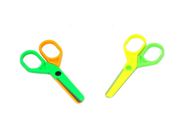 Ножницы детские 10 см Basir пластиковые ручки цветные МС-4035