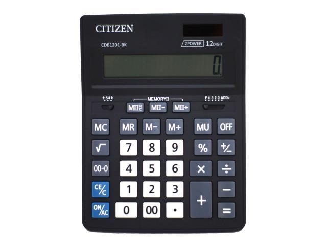 Калькулятор СITIZEN 12-разрядный черный 20.5*15.5 см CDB1201-BK