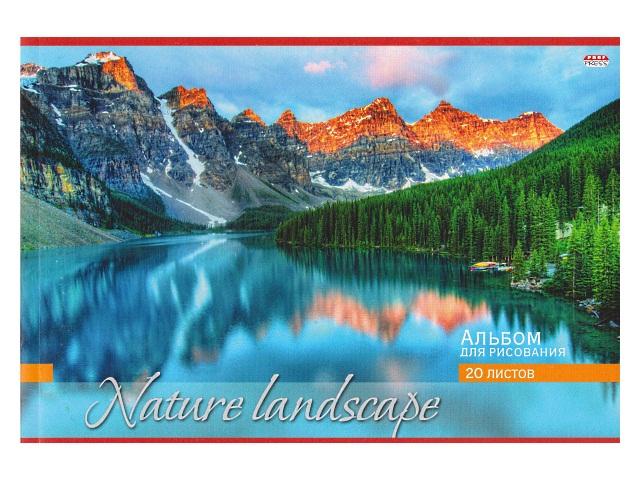 Альбом 20л А4 клееный Горы и озеро Prof Press 20-8721