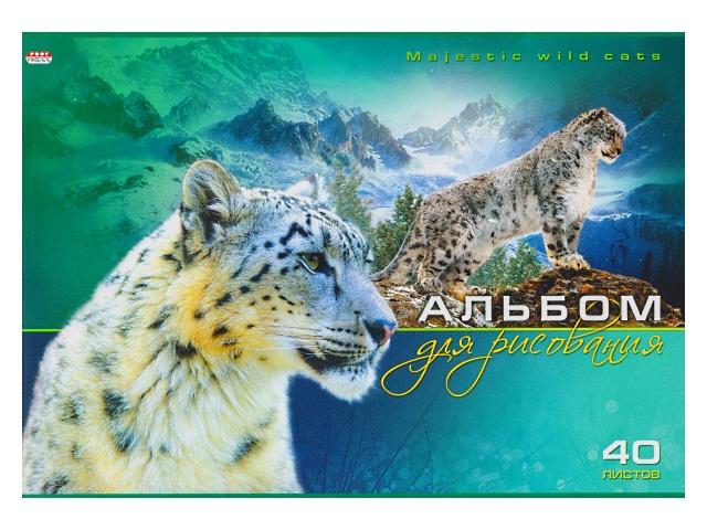 Альбом 40л А4 на скобах Снежный барс 100 г/м2 Prof Press 40-6089