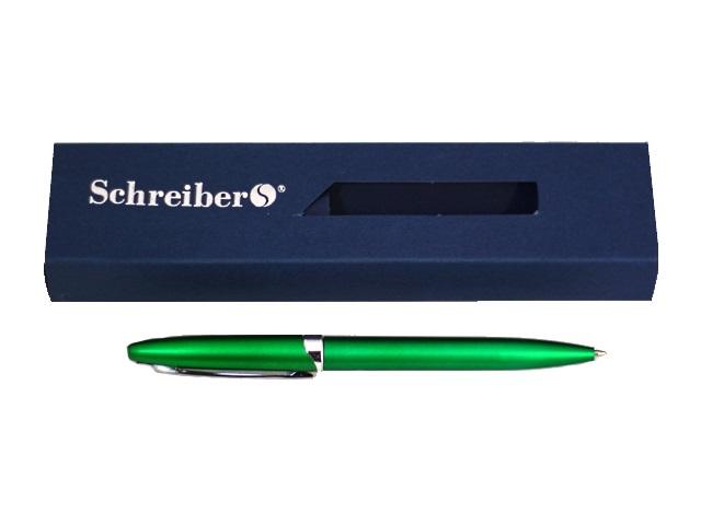 Ручка шариковая поворотная Schreiber S-3525 синяя 0.7мм зеленый корпус/в футляре