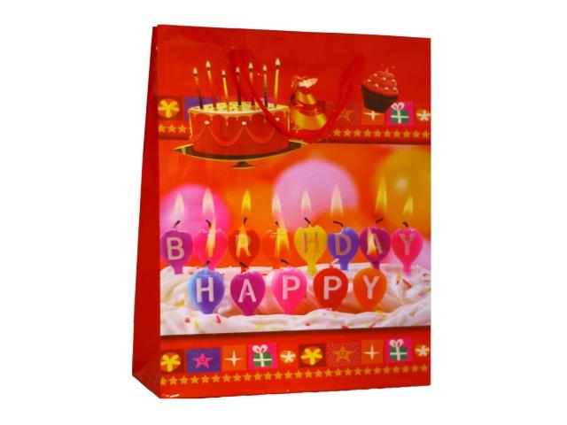 Пакет подарочный бумажный 26*32*10см С днем рождения Schreiber S-8382