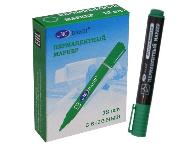 Маркер перманентный Basir 8004 зеленый круглый 2.5мм МС-8004