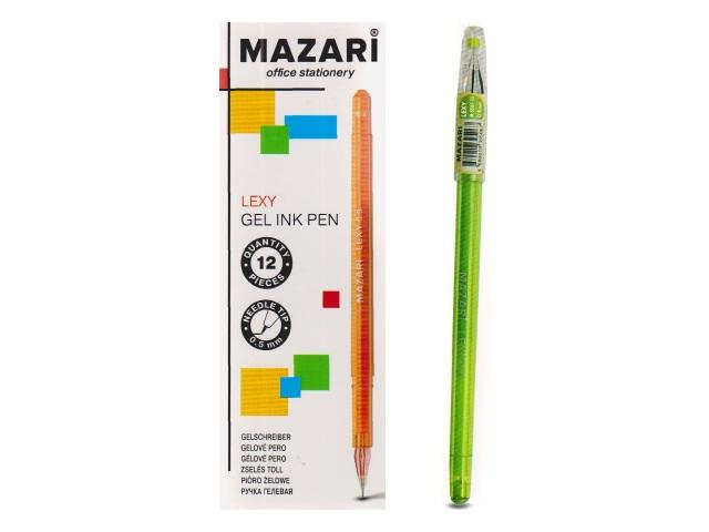 Ручка гелевая Mazari Lexy зеленая 0.5мм М-5507-73