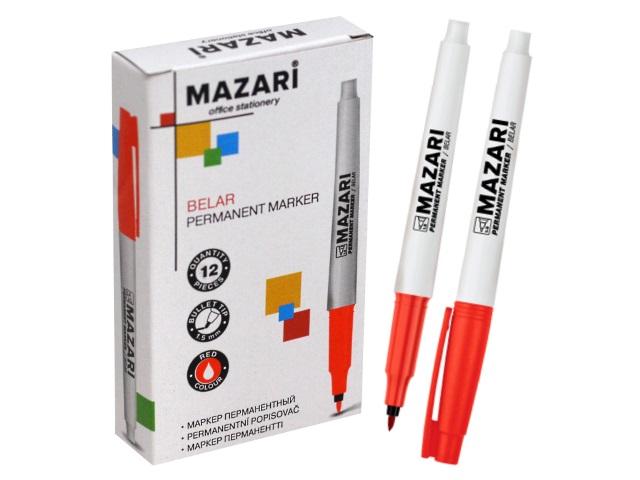 Маркер перманентный Mazari Belar красный круглый 1.5мм М-5004-72
