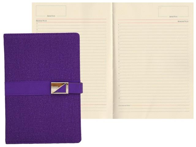 Ежедневник А5 кожзам 136л на магните фиолетовый Mazari М-3597-74