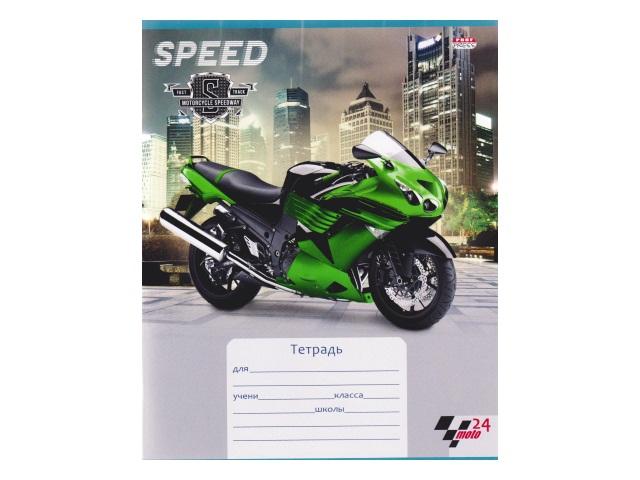 Тетрадь 24л клетка Спортивные мотоциклы Prof Press 24-0605