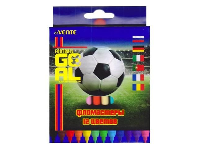 Фломастеры 12цв DeVente Goal 5081815