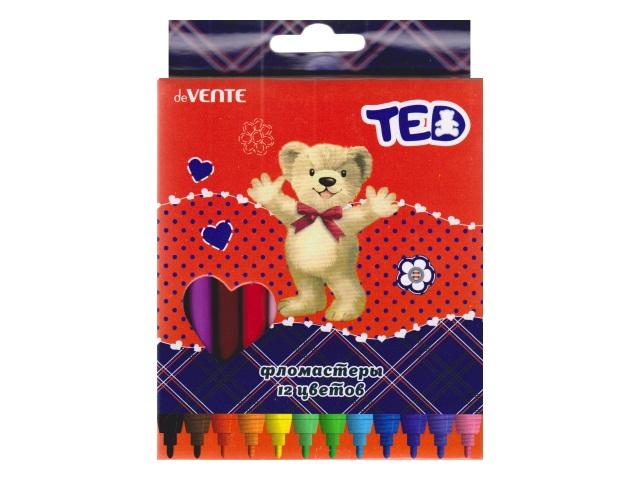 Фломастеры 12цв DeVente Мишка Ted 5081810