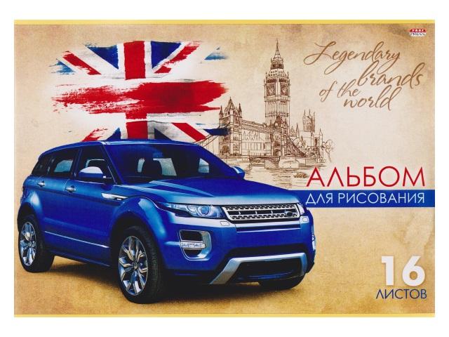Альбом 16л А4 на скобах Британский автомобиль 100 г/м2 Prof Press 16-6104