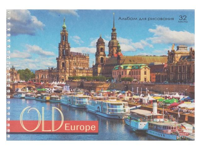 Альбом 32л А4 спираль Европейская набережная 100 г/м2 Profit 32-1232