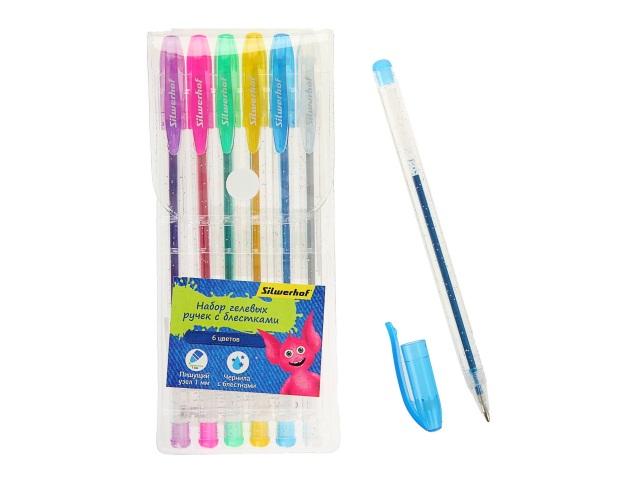 Ручка гелевая набор  6цв Silwerhof 016091-06