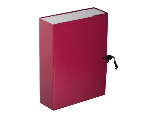 Папка архивная бумвинил на завязках А4  8см бордо Имидж КСБ4080-209
