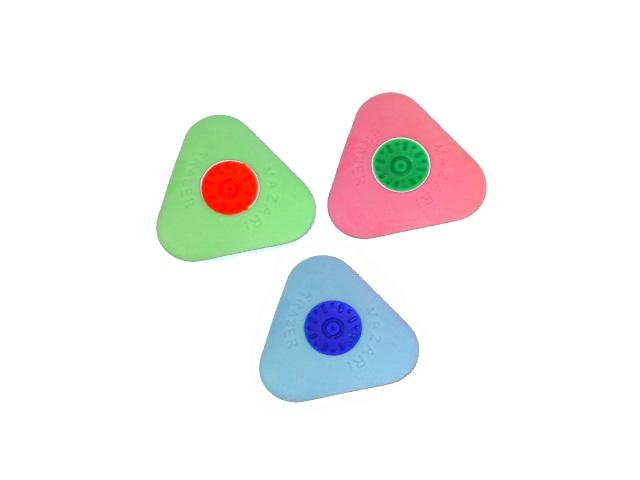 Ластик Mazari Fansy Radius T треугольный цветной 36мм M-6753\48\384\768