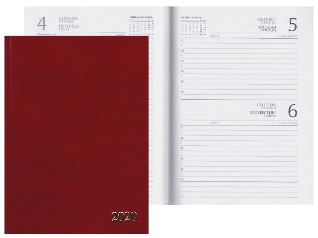 Ежедневник 2020 А5 бумвинил 168л бордовый Prof Press 168-1526