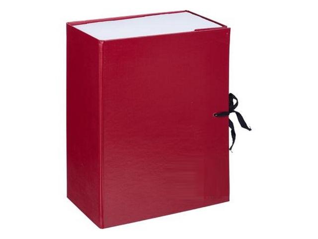 Папка архивная бумвинил на завязках А4 12см бордо Имидж КСБ4120-209