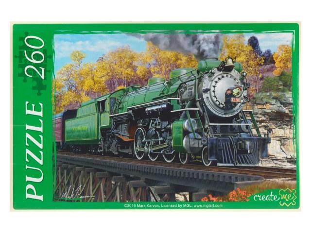 Пазлы  260 деталей Поезд МГ260-4023