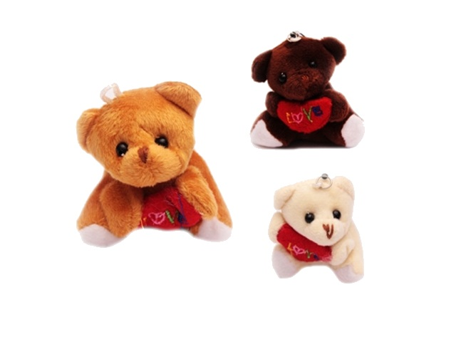 Брелок мягкая игрушка Мишка с сердцем 200155003