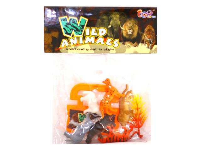 Дикие животные 6 шт. пластик 4-5см Wild Animals 866-В2