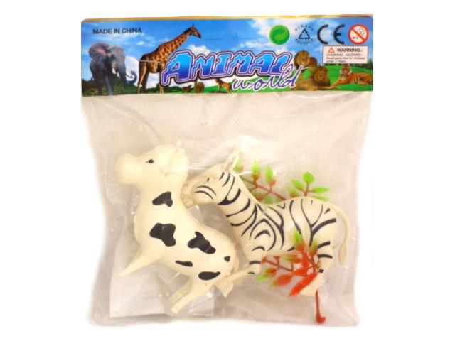 Животные 2 шт. пластик 8см Animal World 31472