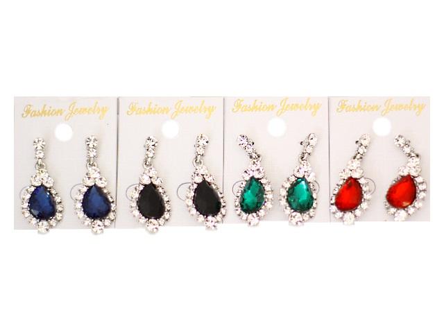 Серьги Камни со стразами цветные 171083-17