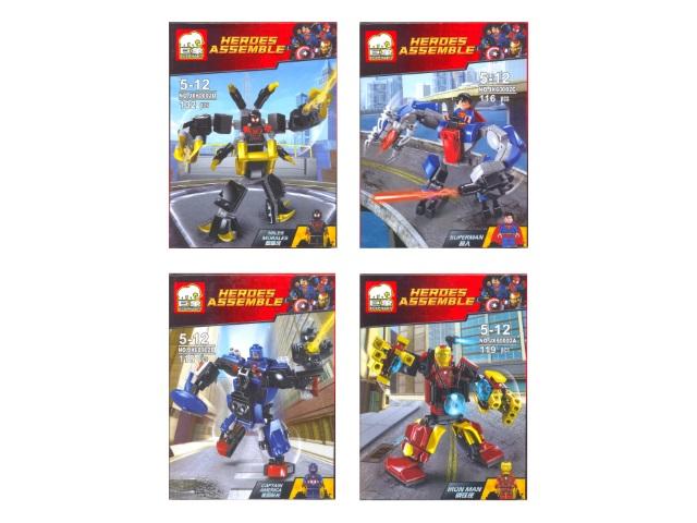 Конструктор 116-132 детали Heroes Assemble 60002