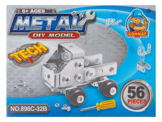Конструктор металл  56 деталей Conmay 898С-32В