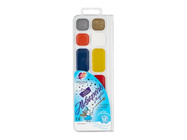 Краски 12 цветов акварель перламутровая Луч 16С 1105-08