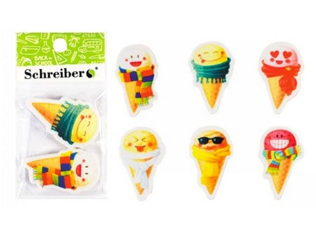 Ластики 2 шт. Schreiber Мороженое S-8191