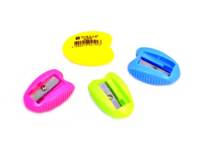 Точилка пластик Tukzar цветная TZ-6178