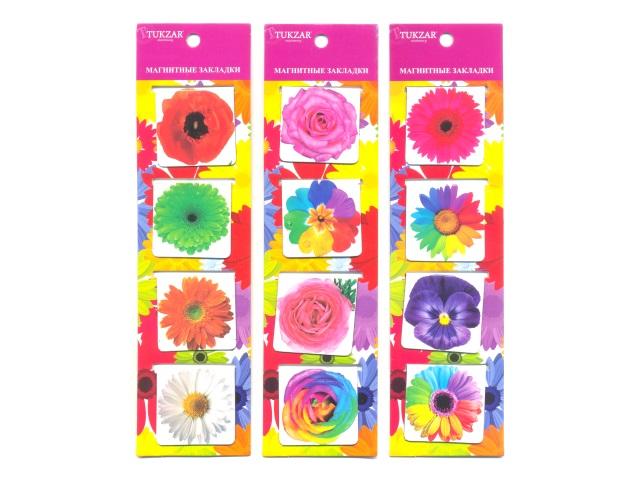 Закладка-магнит 4 шт. Цветы TZ 7924