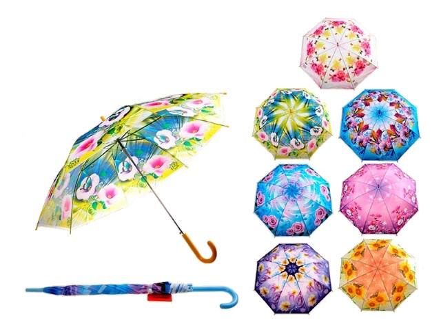 Зонт трость Цветы 54см Schreiber S-3349