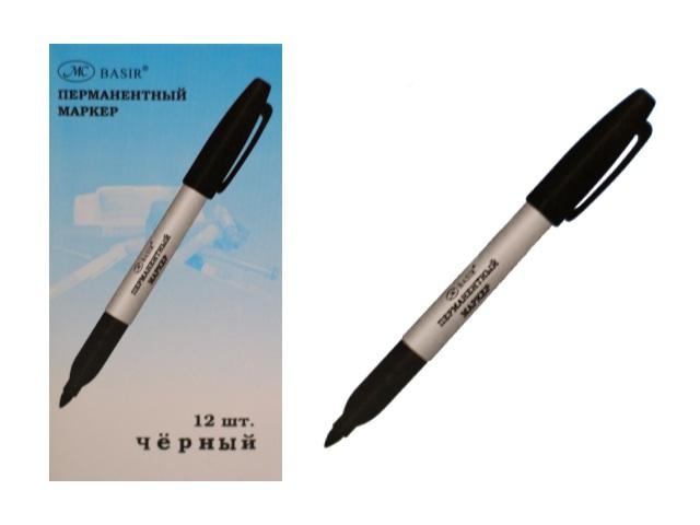 Маркер перманентный Basir 9500 черный круглый 2мм МС-9500