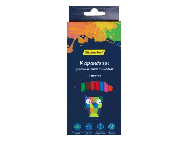 Карандаши цветные 12цв Silwerhof Цветландия шестигранные 134212-12
