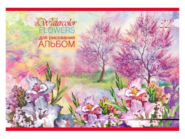 Альбом 32л А4 на скобах Цветы и деревья 100 г/м2 Profit 32-9050